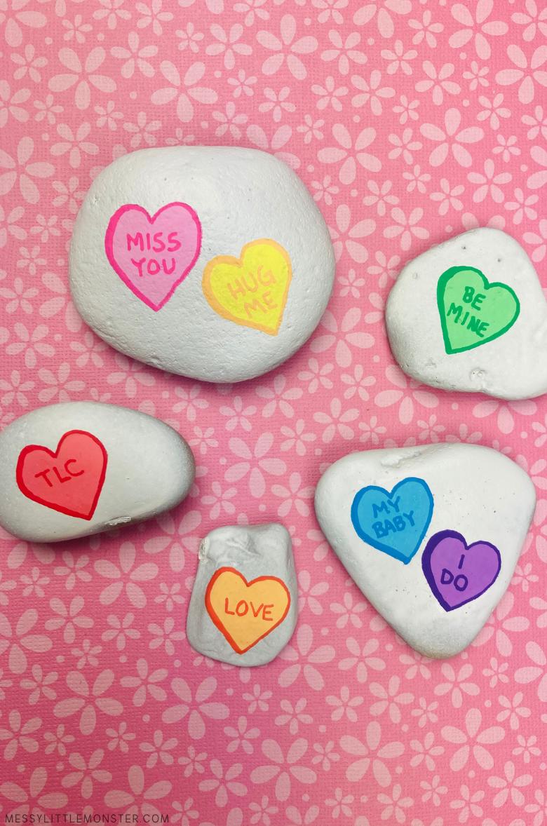 heart rock painting ideas