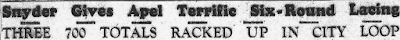 Climbing My Family Tree: Snyder, Headline from the Findlay Republican Courier, 1938