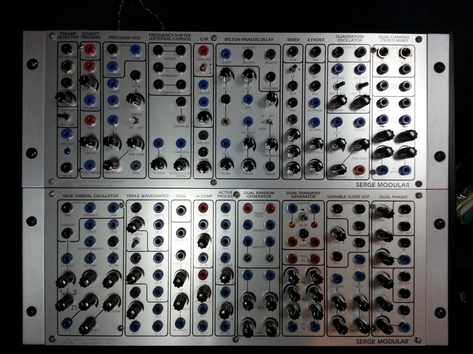 Matrixsynth Sts Serge Modular 5 Panels Plus Accessories For Sale Quadrature Oscillator External Carrier Input Control Module Wilson Analog Delay Audio Mixer With Phase Reverse Switch Dual Channel Stereo