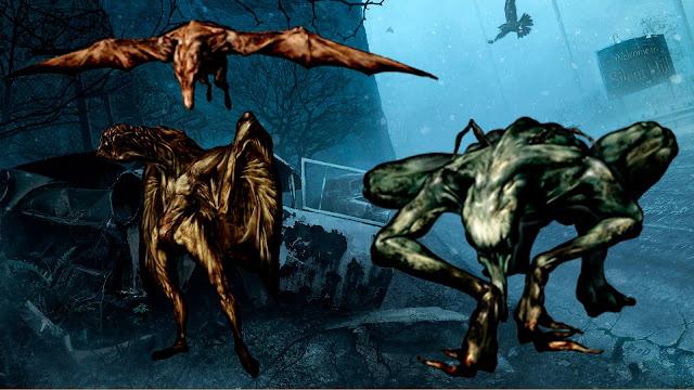 Demonios de las alcantarillas Hanged Scratcher Gritador Aéreo Air Screamer Aleteador Nocturno Night Flutter Simbolismo de SIlent Hill