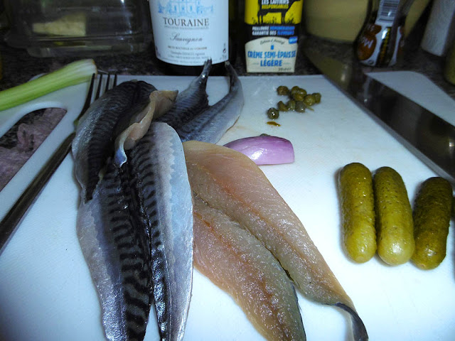 Ingredients for mackerel rillettes. Photo by Loire Valley Time Travel.