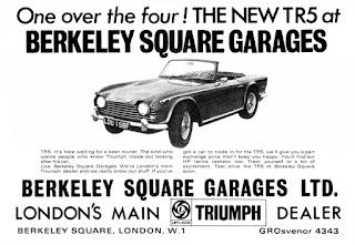 Berkeley Square Garages Ltd, Triumph TR5 advert