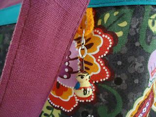 sac cabas ethnique fait main fuchsia
