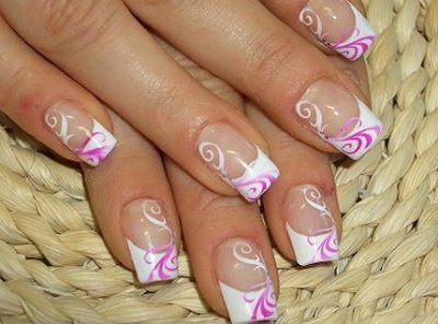 Beauty Best Nail Art Cute French Nail Manicure Design