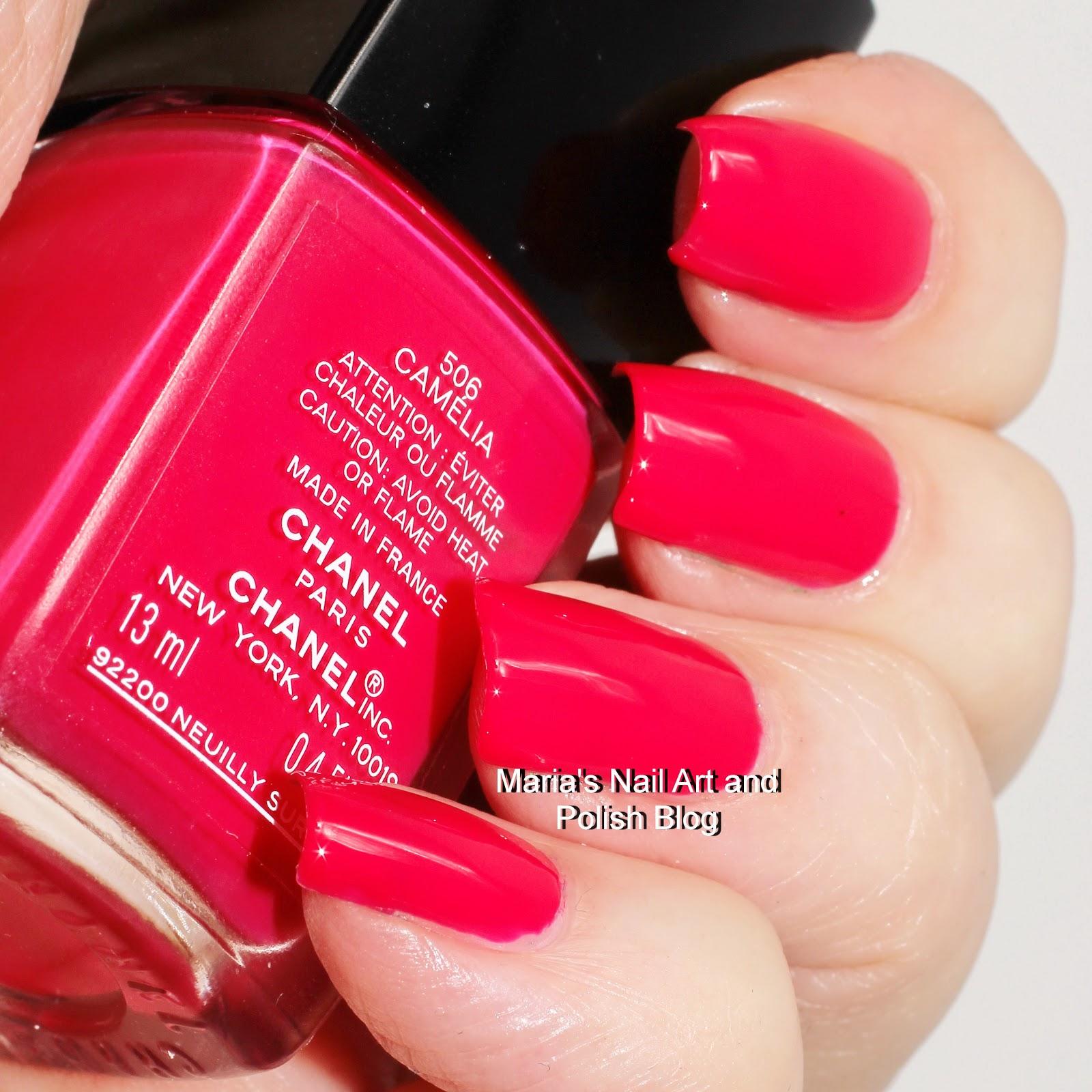 Marias Nail Art and Polish Blog: Chanel Camelia 506 swatches