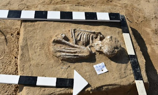 Skeleton at the ancient cemetery of Ismailia.