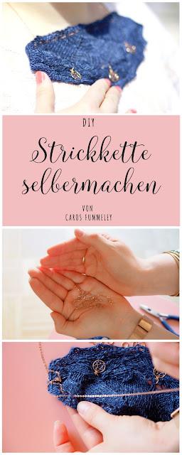 Werbung: Strickkette selbermachen mit silverbell #stricken #schmuck #diy