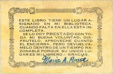 Ex libris Maria Ponce
