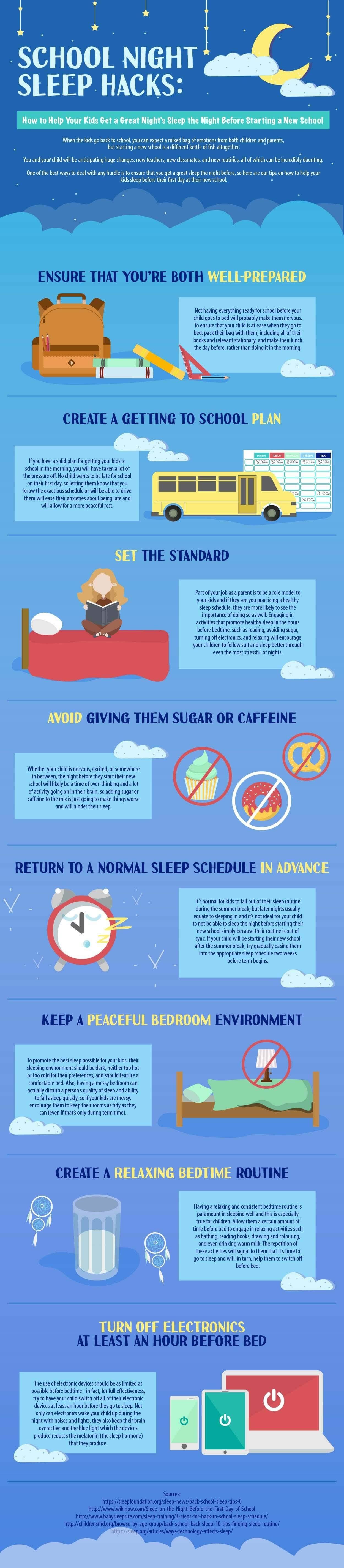 School Night Sleep Hacks