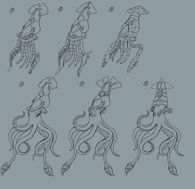 Squidlorr Early Concepts