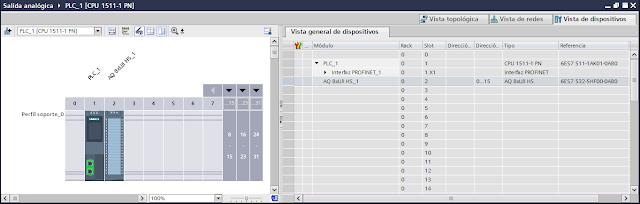2. Salidas analógicas (con ejemplos) - Programación en TIA Portal V14 - Tutorial medio