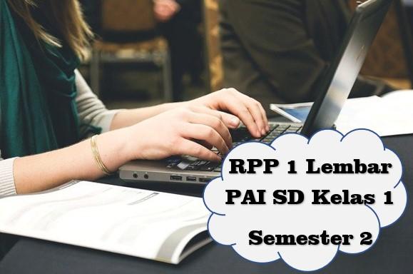 RPP 1 Lembar PAI SD Kelas 1 Semester 2