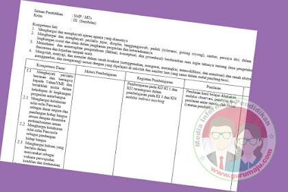 Silabus PKN SMP Kelas 9 Kurikulum 2013 Revisi Terbaru