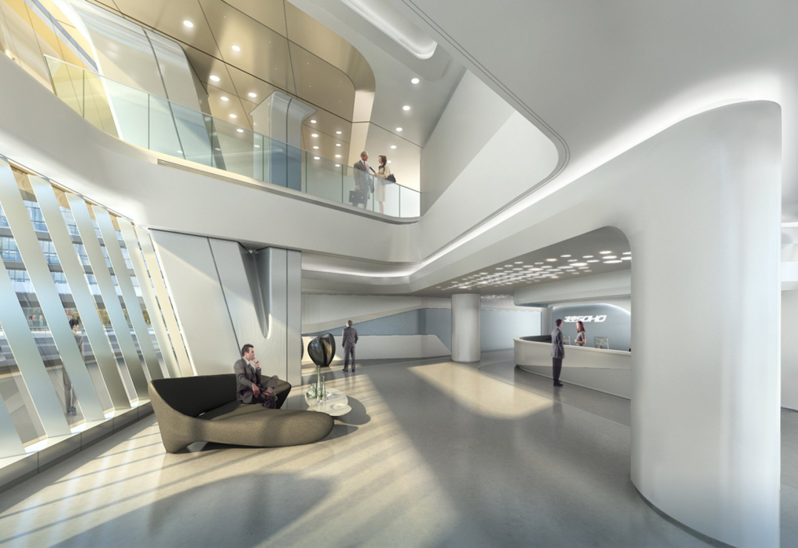 futuristic sky soho by zaha hadid architects shanghai china architecture architecture design. Black Bedroom Furniture Sets. Home Design Ideas