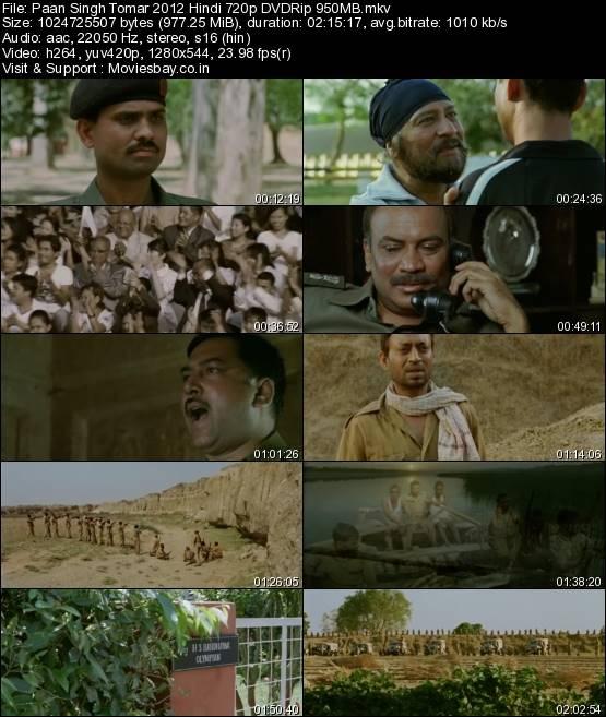 Paan Singh Tomar 2012 Hindi 720p DVDRip 950MB