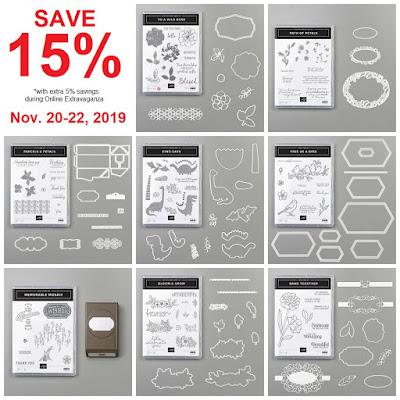 Stampin' Up! Online Extravaganza -- Stock Up & Save Sale ~ November 20-22, 2019 ~ www.juliedavison.com/shop