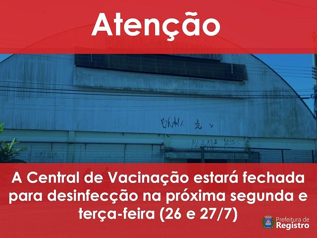 central-de-vacinacao-passara-processo-desinfeccao
