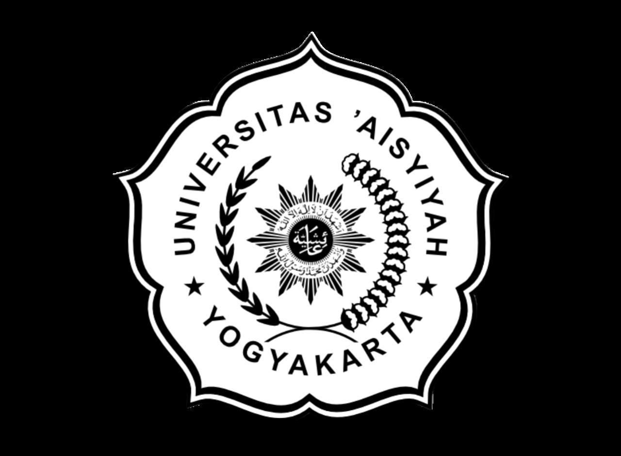 Logo Universitas 'Aisyiyah Yogyakarta Hitam Putih