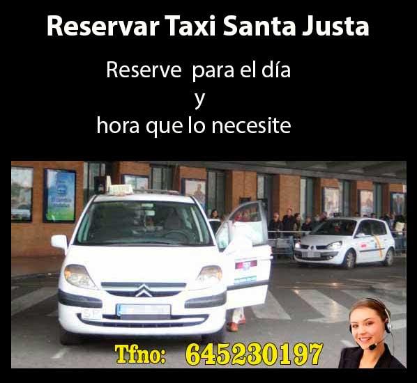 reservar taxi en estación de Santa Justa