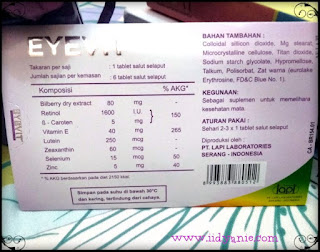 formula lengkap eyevit vitamin mata eyevit tablet