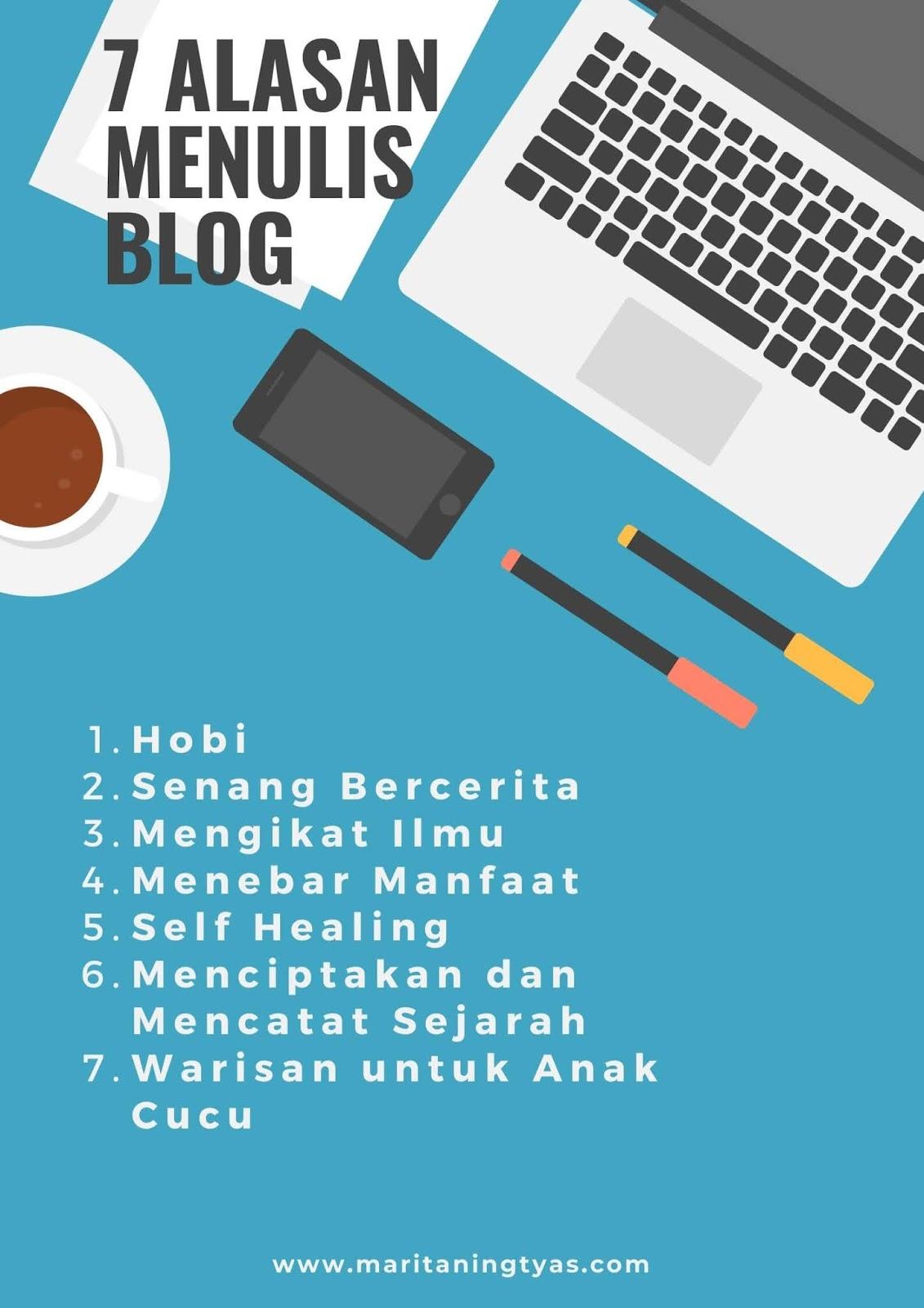 7 alasan menulis blog versi maritaningtyas.com