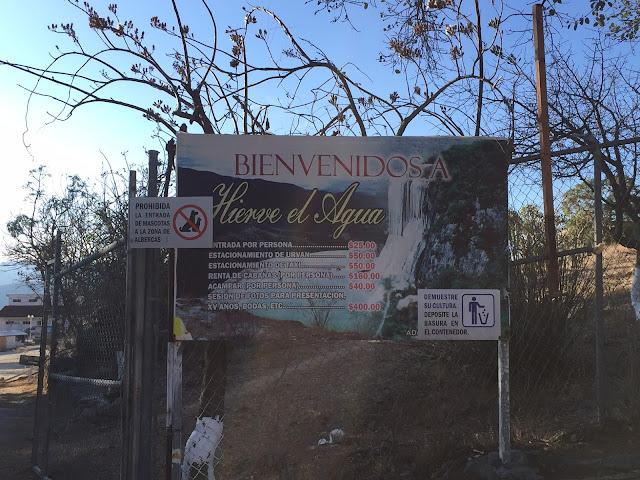 precios hierve el Agua Oaxaca