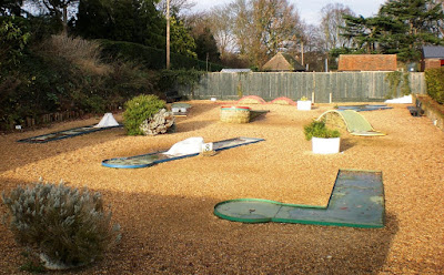 Where in the world was this miniature golf course?