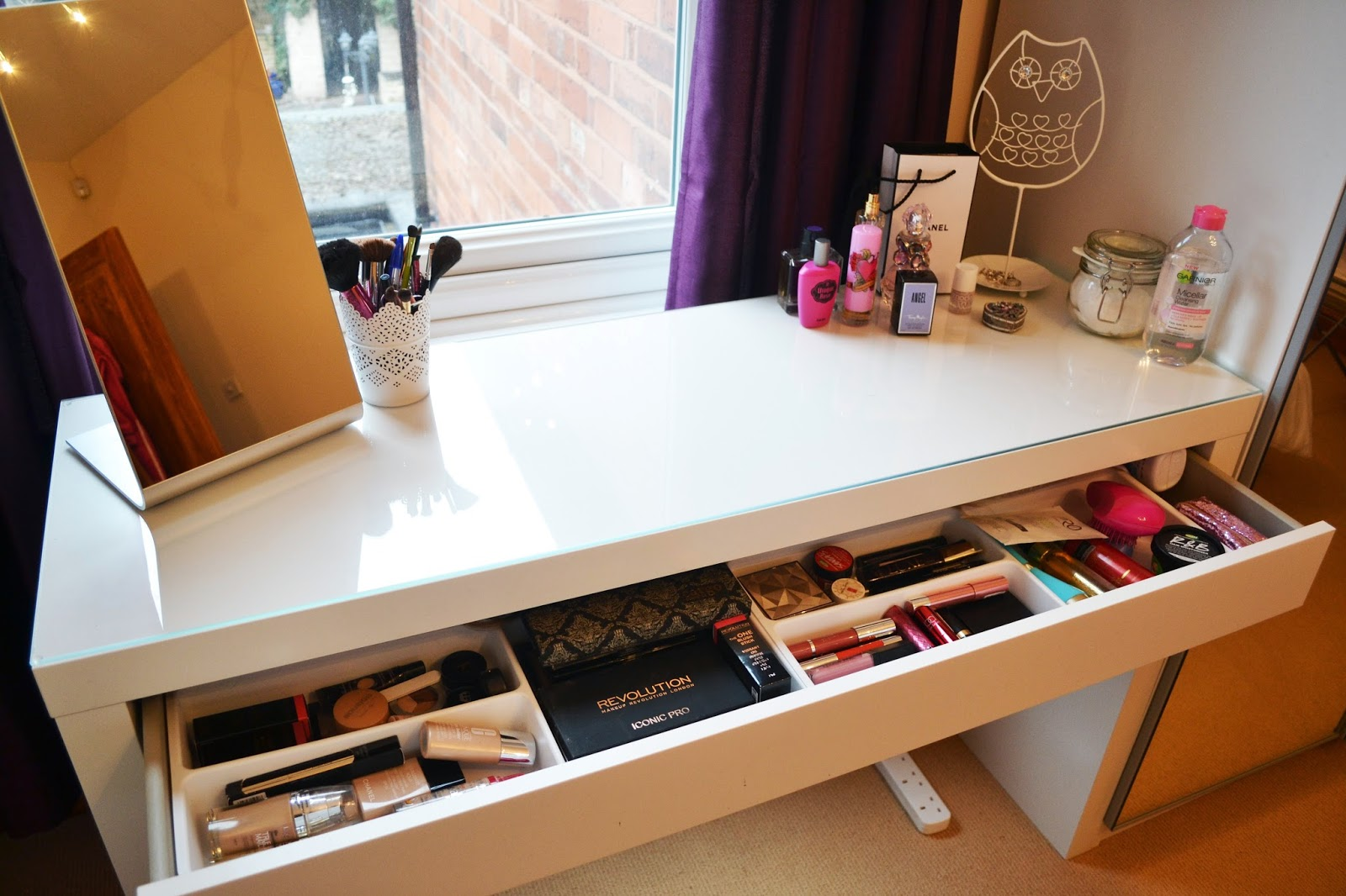 My Dressing Table Makeup Storage