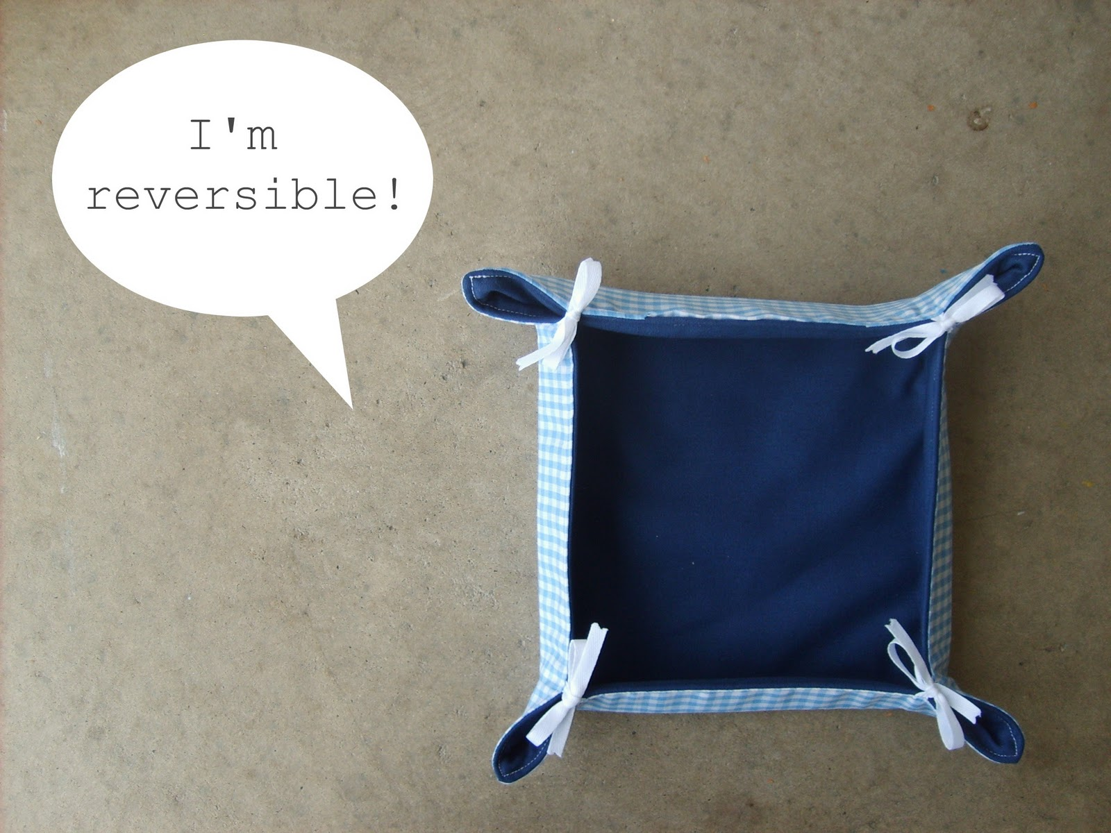 Reversible Fabric Basket Tutorial