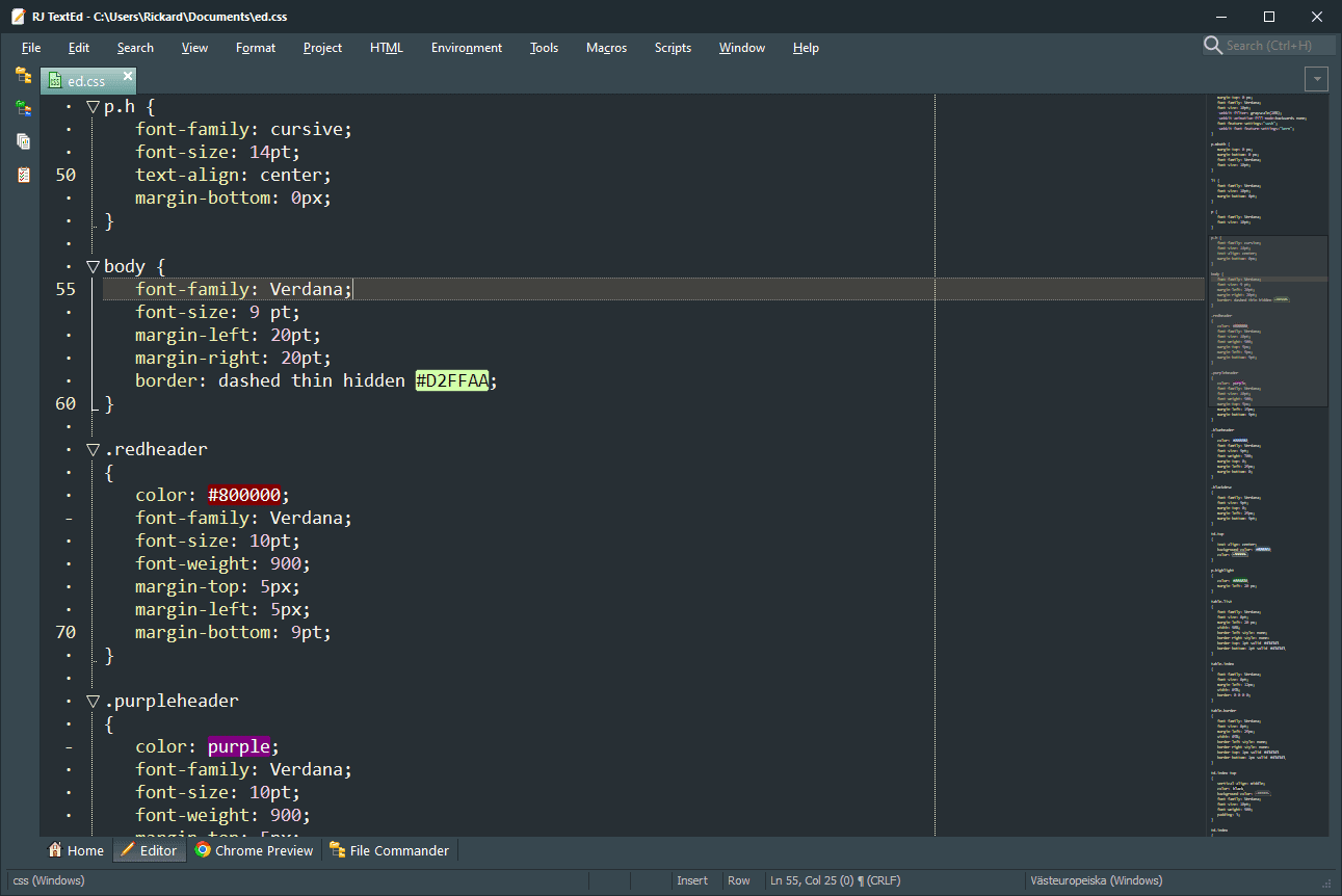 RJ TextEd Main Interface Screenshot