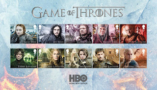 "Royal Mail of Great Britain released a collection of stamps dedicated to the series ""Game of Thrones"""