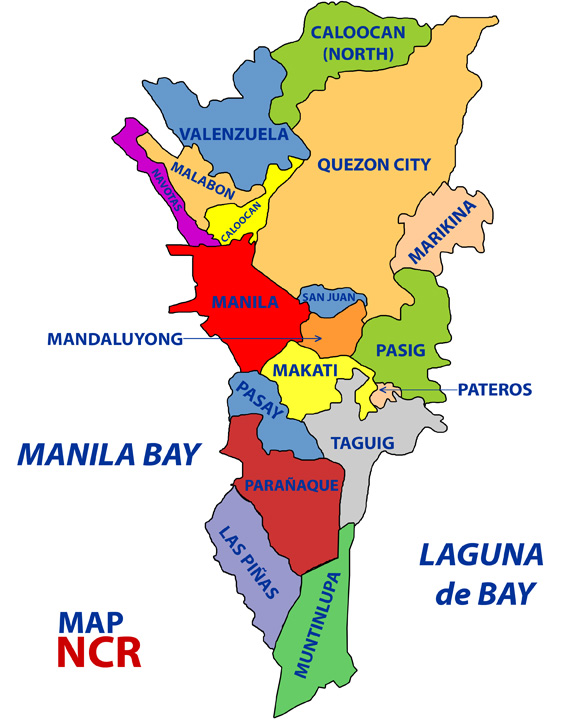 capital of philippines map
