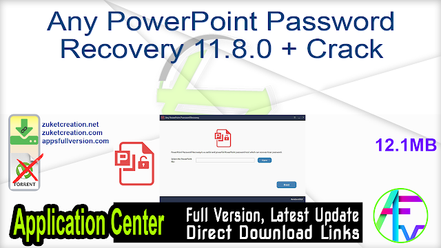 Any PowerPoint Password Recovery 11.8.0 + Crack