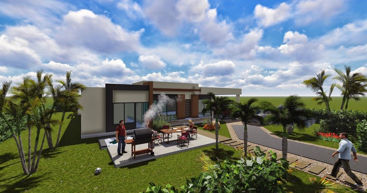 Planos de casas modernas for Casas campestres modernas planos