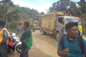 Petani Mulai Bergerak ke Kompleks Perkantoran Pemkab Tebo