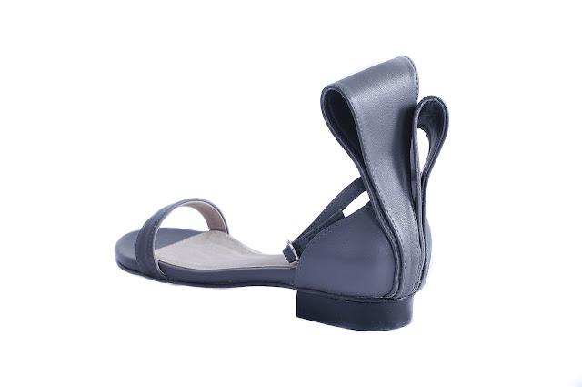 Sala Chaussures Kitsune Gray Flats