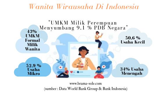 Data tentang pelaku UMKM Perempuan di Indonesia