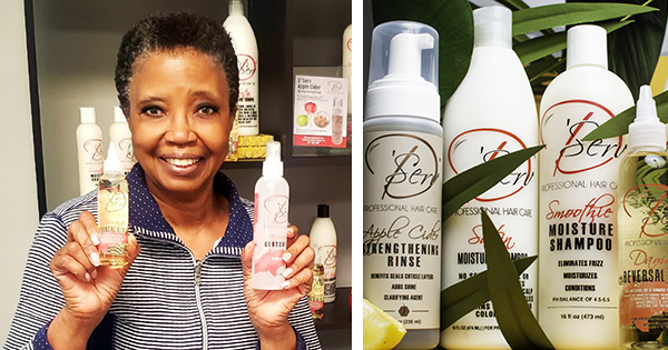 Angela H. Brown, founder of D'Serv Professional Hair Care
