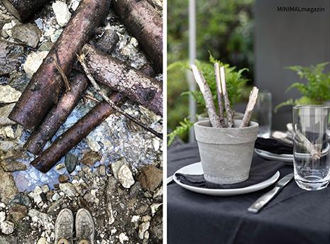 Tischdeko wie in den Alpen - DIY Tischkarten aus Zweigen