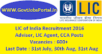 LIC of India Recruitment 2016