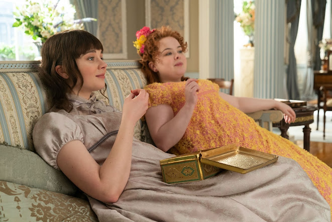 Eloise and Penelope from Bridgerton still