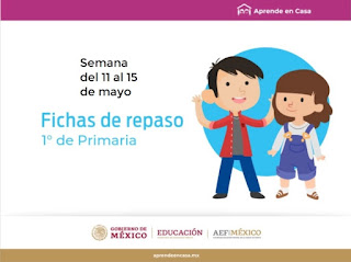 Primaria Fichas de trabajo para Aprender en Casa de la semana del 11 al 15 de mayo