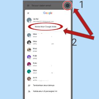 Cara mengganti nama email di hp