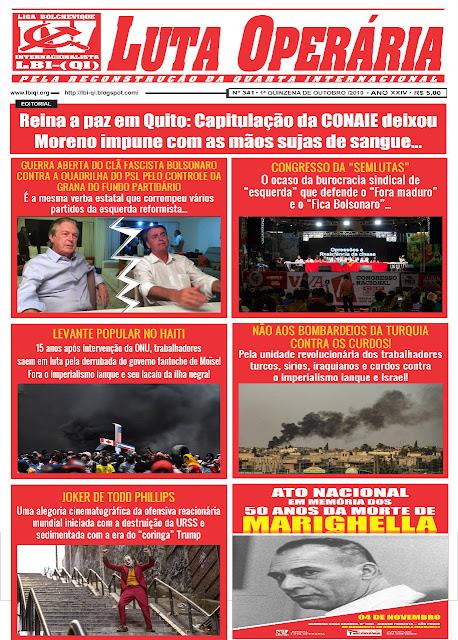 LEIA A EDIÇÃO DO JORNAL LUTA OPERÁRIA Nº 341