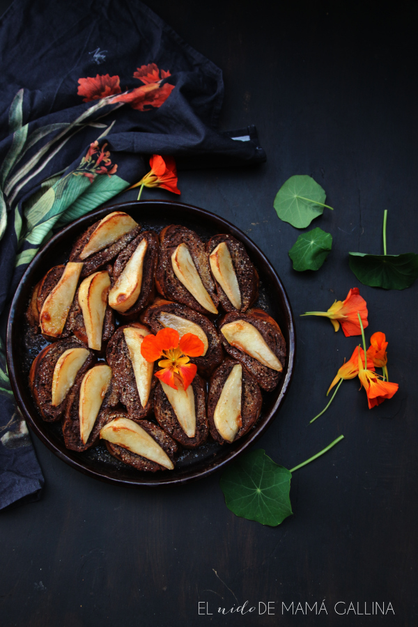 chocolate and pears pain perdu