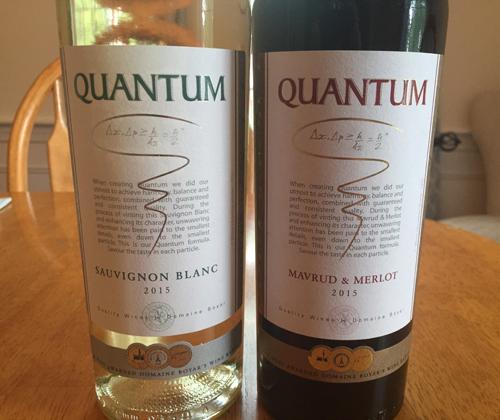 Quantum Sauvignon Blanc 2015 & Quantum Mavrud / Merlot 2015
