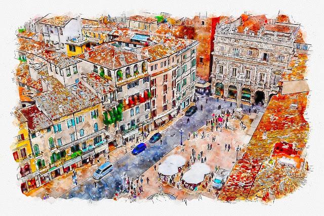 Verona-Piazza delle Erbe-architettura-storia