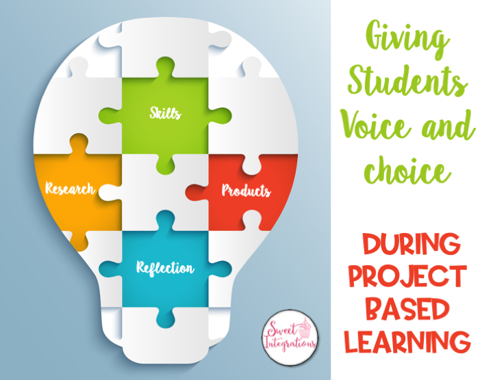 Giving Students Voice and Choice During Project Based Learning - Graphic of light bulb puzzle