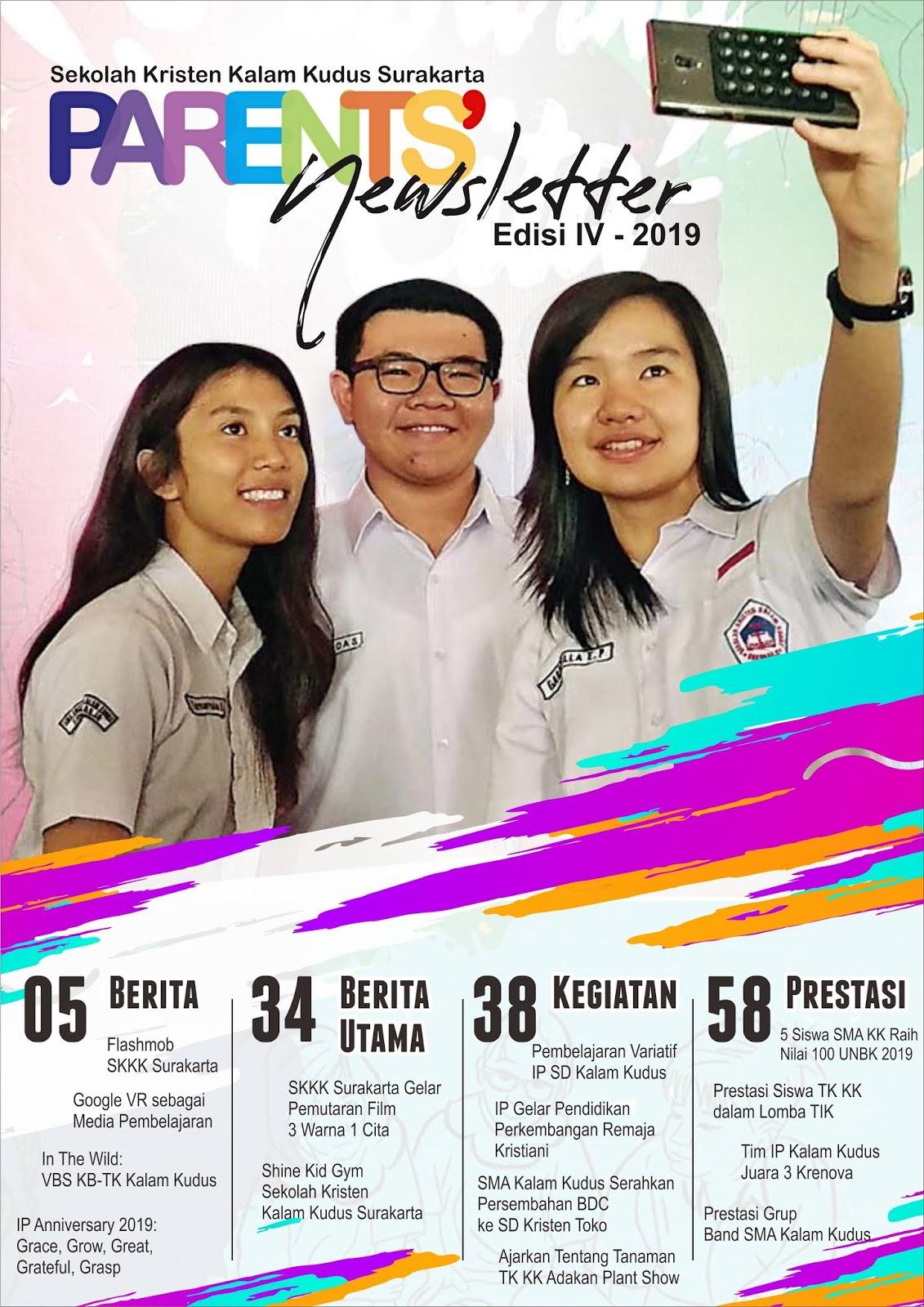 Parents' Newsletter SKKK Surakarta Edisi IV - Desember 2019