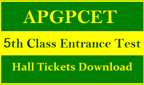 APGPCET 2021 Hall Tickets Download